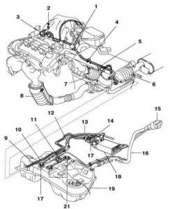 Система выпуска ОГ автомобиля Nissan Primera